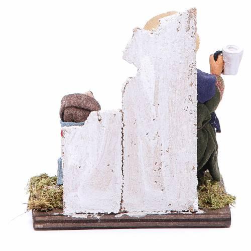 Beggar with dog figurine for Neapolitan Nativity, 12cm s4