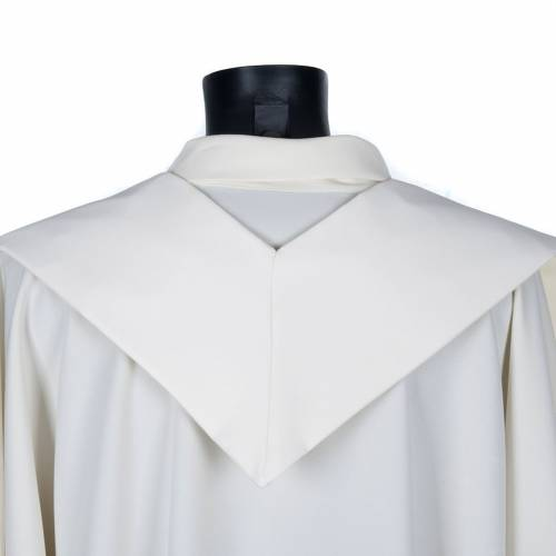 Beige clergy stole with golden cross s4