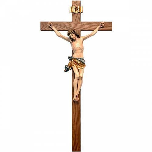 Bemaltes Kruzifix - gerades Kreuz s1