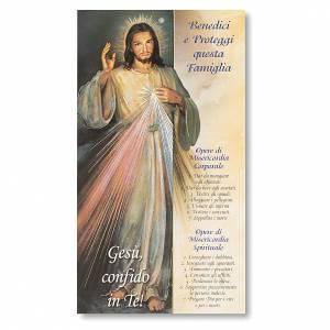 Accessori per Benedizione: Benedizione pasquale Cartoncino Gesù Misericordioso ITA