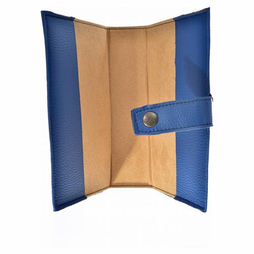 Bible cover reader edition, blue leather Our Lady s3