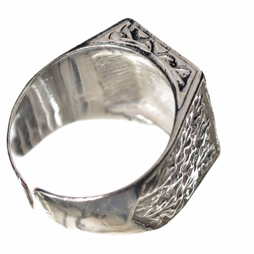 Bishop's ring in 800 silver with cross s3