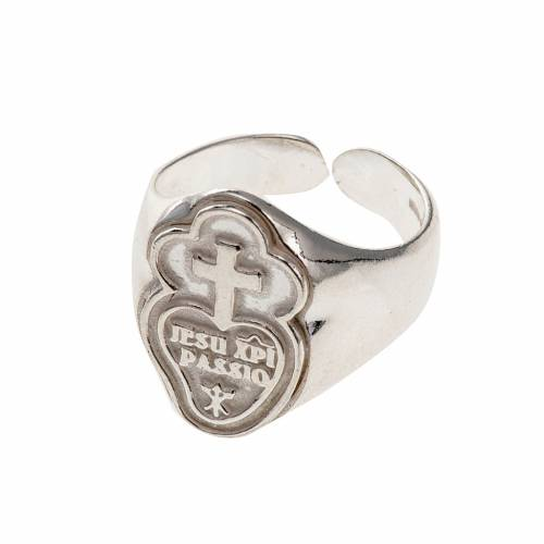 Bishop's ring made of 800 silver, Passionists s1