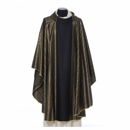 Black Chasuble in pure Tasmanian wool with double twisted yarn s1