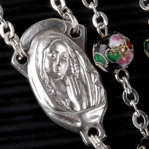 Black cloisonné rosary s2