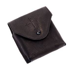 Pyxes and Burses: Black leather Pyx case