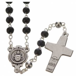 Black Rosary and cross, Pope Francis s3