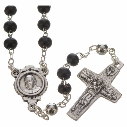 Black Rosary and cross, Pope Francis s2