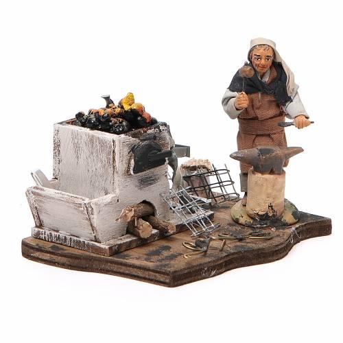 Blacksmith with forge, Neapolitan nativity figurine, 10cm s4