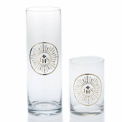 Blessed Sacrament lamp glass, transparent glass 1