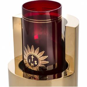 Sanctuary lamps and candles: Blessed Sacrament lamp,