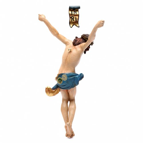 Body of Christ in Valgardena wood, antique gold finish s4