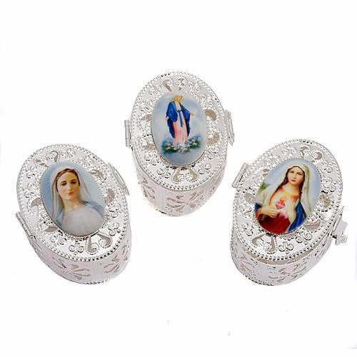 Boîte ovale, filigrane, porcelaine s1