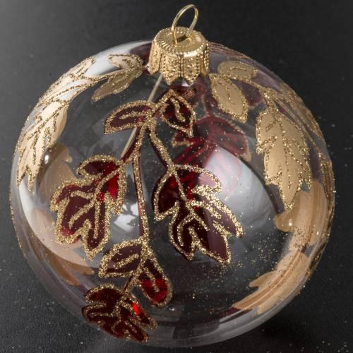 Bola de navidad vidrio transparente decoraciones rojas doradas 8 s2