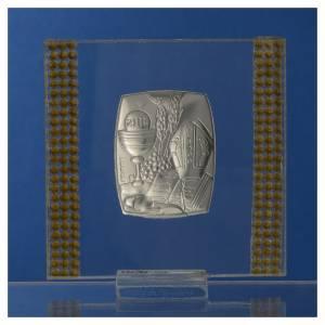 Bomboniera Argento e strass 7x7 cm s4