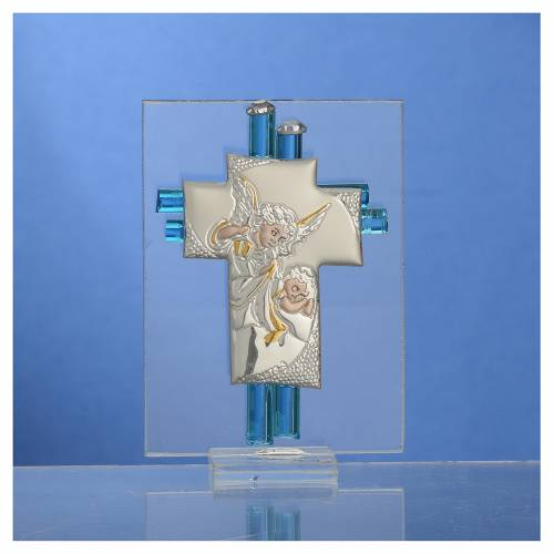 Bomboniera Battesimo Angelo vetro Murano acqua h. 8 cm s2