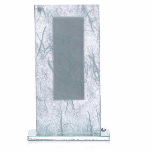 Bonbonnière Communion argent bleu clair-vert s2