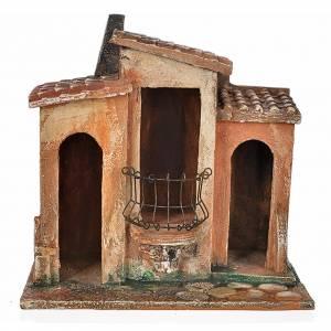 Ambientazioni, botteghe, case, pozzi: Borgo presepe Fontanini cm 12