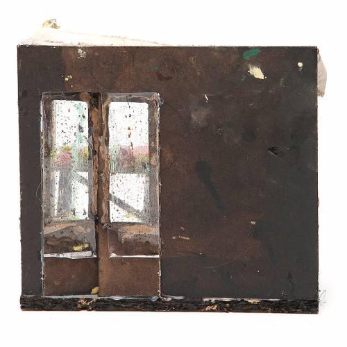 Bottega macellaio in cera presepe 18x20x14 cm s4