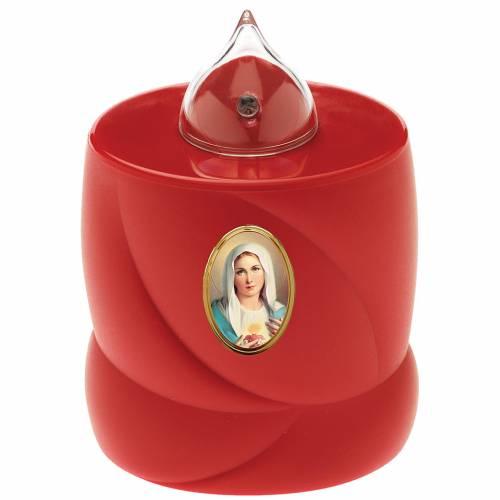 Bougie à piles Lumada rouge lumière clignotante Vierge s1