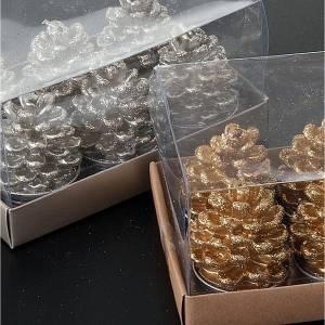 Bougies de Noël pomme de pin s2