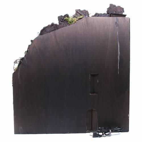 Bourg complet crèche Naples fontaine four moulin 80x70x40 cm s4