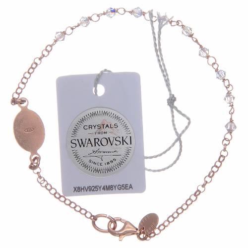 Bracciale argento 925 rosato e Swarovski trasparenti s2