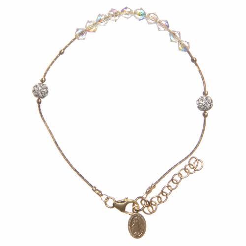 Bracelet argent 925 doré et Swarovski grains cristal s1