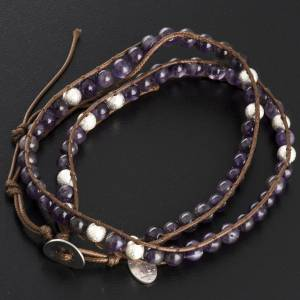 Bracelet capelet améthyste 6mm s3