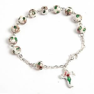 Bracelets dizainier: Bracelet-Dizainier,  cloisonné, blanc