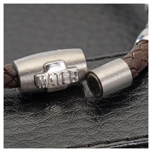 Bracelet dizainier MATER marron croix argent 925 s2