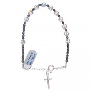 Silver bracelets: Bracelet in 800 sterling silver with black Swarovski
