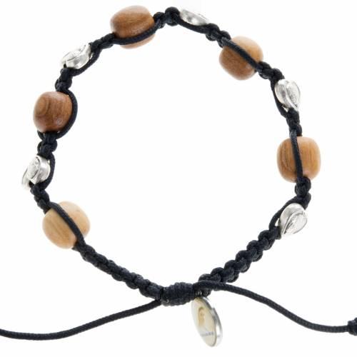 Bracelet in olive wood and hearts, Medjugorje s1