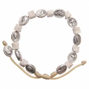 Bracelet pierre blanche Medjugorje s2