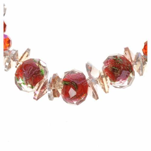 Bracelet Trinité élastique Cristal rouge s2