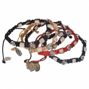 Bracelets, peace chaplets, one-decade rosaries: Bracelet with hearts and stone