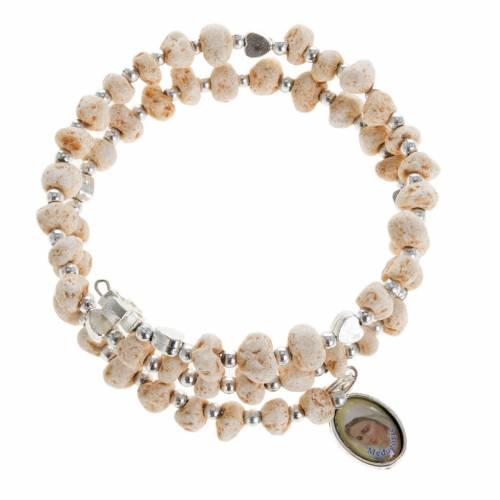 Bracelet with spring in dark stone s1