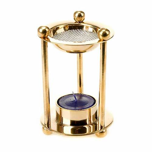 Brass tealight incense burner s1