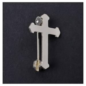 Broschen Clergyman: Brosche Kreuz Silb. 800 Spitze
