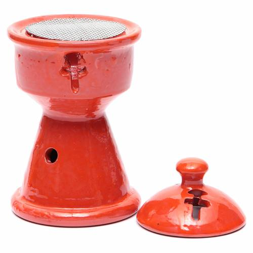Bruciaincensi etiope ceramica arancione s2