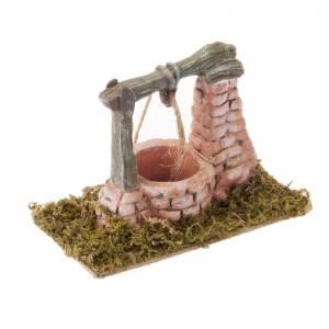 Krippe Häuser, Laden: Brunnen für Krippe aus Harz 15x8 cm
