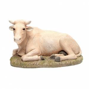 Animales para el pesebre: Buey resina 50 Linea Martino Landi