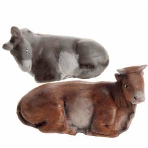 Belén napolitano: Buey y burro 8 cm. belén napolitano