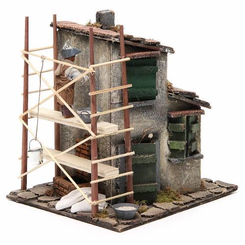 Builder animated Neapolitan Nativity figurine 12cm s2