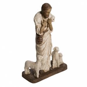 Statue in pietra: Buon Pastore 38 cm pietra Bethléem