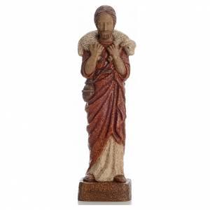 Buon Pastore 39 cm pietra Bethléem s1