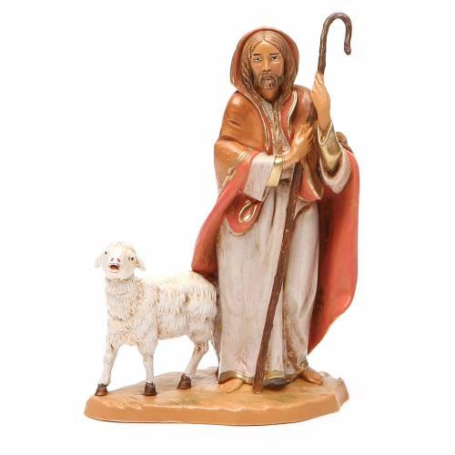 Buon pastore pecorella Presepe 12 cm Fontanini s1