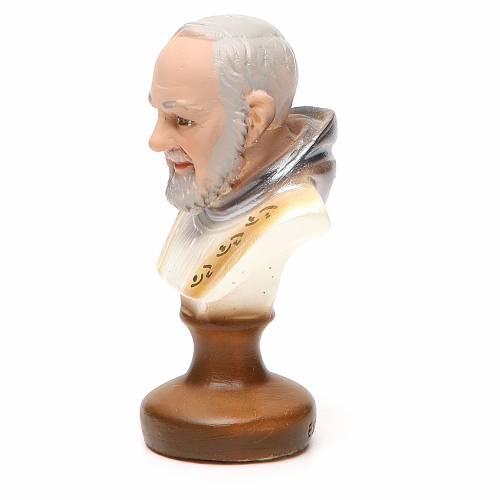 STOCK Busto Padre Pio 12 cm gesso s2