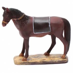 Animales para el pesebre: Caballo de resina para belén 10 cm Línea Martino Landi