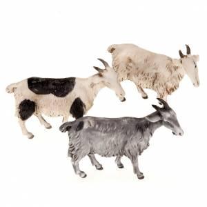 Animales para el pesebre: Cabras para belén de 10 cm, 3 pz.